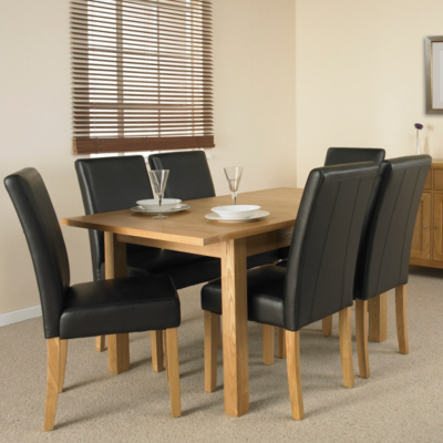 Clifton Extending Dining Table and 6 Brown