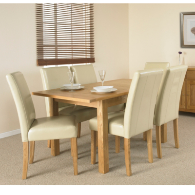 Clifton Extending Dining Table and 6 Ivory