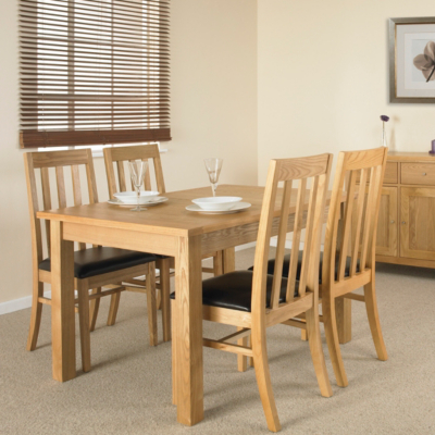 Clifton Extending Dining Table and 4 Slat Back
