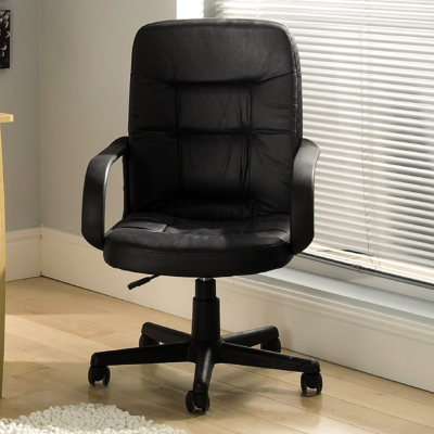 ASDA Mid-Back Executive Office Chair - Black, Black product image