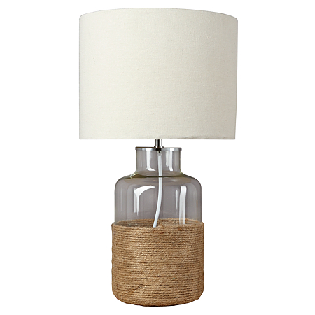 george home rope jar lamp lighting asda direct. Black Bedroom Furniture Sets. Home Design Ideas
