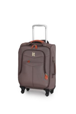 it Luggage 4Wheel Lightweight Spinner Trolley Case  Cabin Size Brown