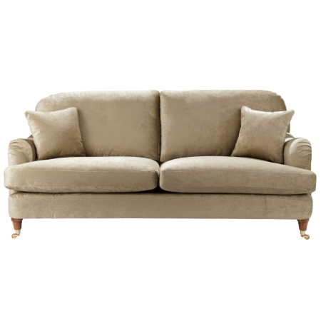 Gatsby Large Sofa In Beige Sofas Amp Armchairs Asda Direct