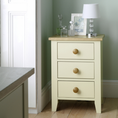 Asda Newport Bedside Cabinet Cream And Oak 26120346 Review Compare Prices Buy Online