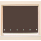 Mocha Square Eyelet Roller Blind - Various Sizes