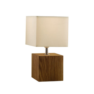Light Wood Square Table Lamp, Wood AS3425A-LT
