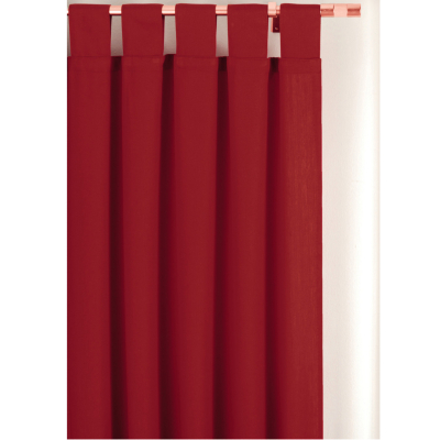 Asda Tab Top Curtains Red 66 X 72in Red Review