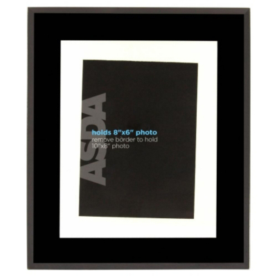 Black Glass Photo Frame, Black