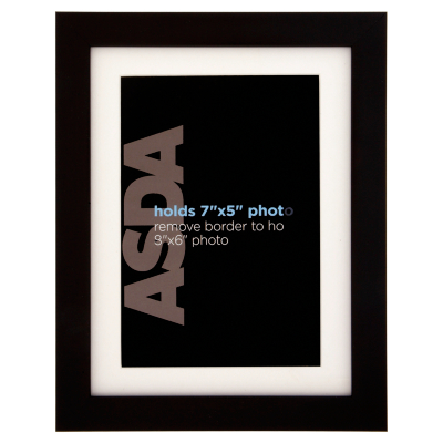 ASDA Black Picture Frame - 7x5ins, Black