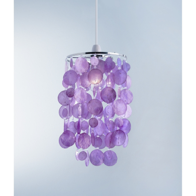ASDA Easy Fit Capiz Light Pendant - Pink