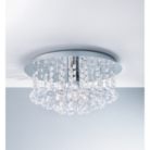 ASDA Suspended Faux Crystal Ball Flush Ceiling Fitting
