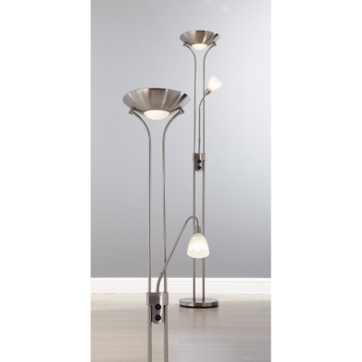 Asda chrome mother and child floor lamp chrome review for Floor lamp asda