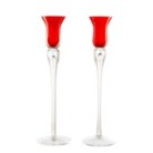 ASDA Red Taper Candle Holders - 2 Pack