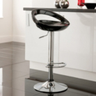 Crescent Bar Stool - Black