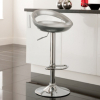 Crescent Bar Stool - Silver main view