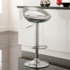 Crescent Bar Stool - Silver