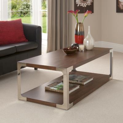 Asda Direct Riga Coffee Table Walnut Veneer Riga Coffee Table Walnut