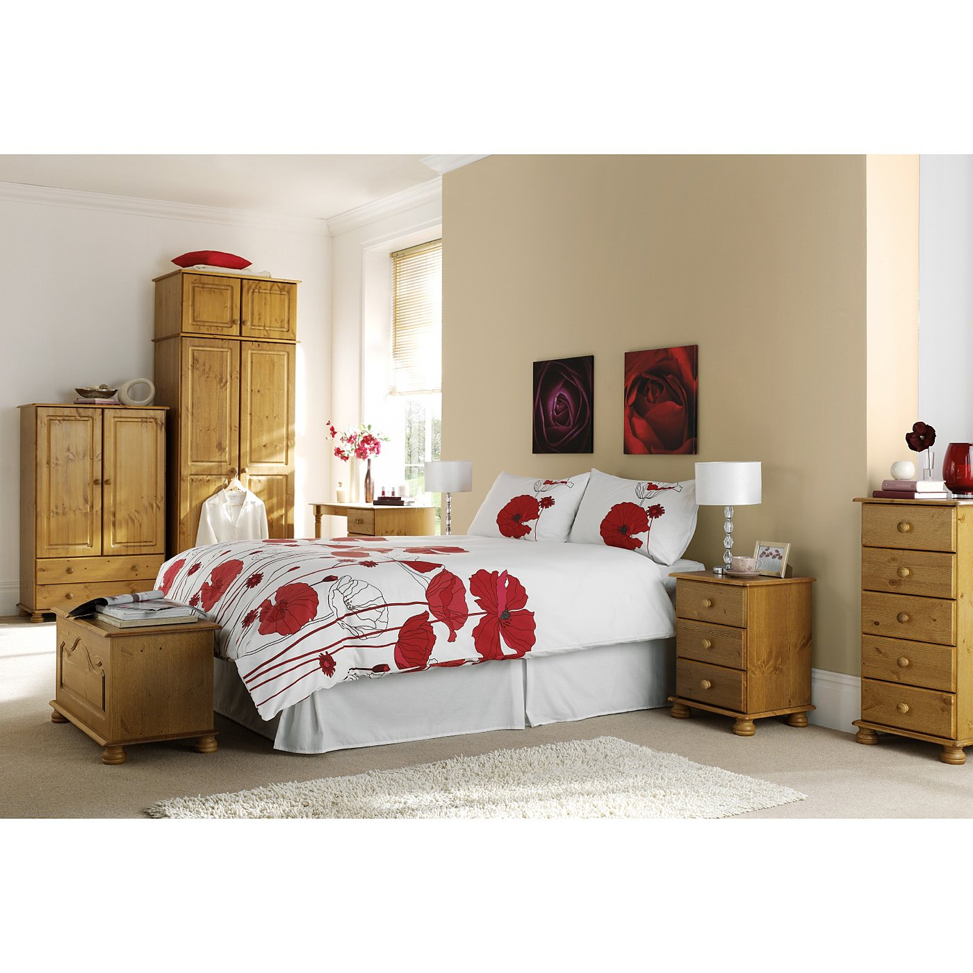 Pine Bedroom Hampton Pine Bedroom Range Bedroom Ranges George At Asda