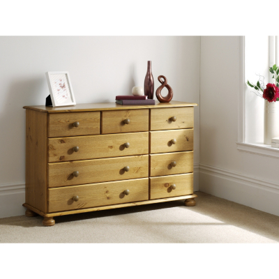 Asda Direct Hampton Pine Wide Chest Of Drawers Special Savings Today At Asda Direct With Uk