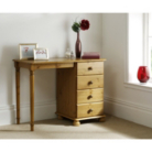 Hampton Pine 4 Drawer Dressing Table