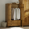 Hampton Pine 2 Door Wardrobe with 2 Drawers alternative view