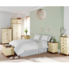 Hampton Cream Pine 3 Drawer Bedside Cabinet alternative view