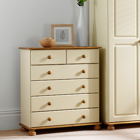 Hampton Cream Pine Large Chest Of Drawers Chest Of Drawers Asda Direct