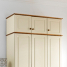 Hampton Cream Pine 3 Door Top Box