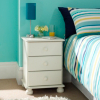 Hampton White 3 Drawer Bedside main view