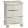 Hampton White 3 Drawer Bedside alternative view