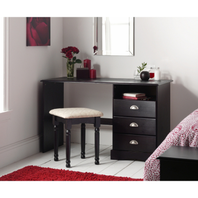 Asda Direct Camden Dressing Table Drawers Black Lacquer