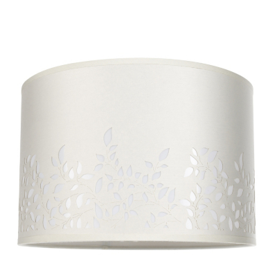 ASDA Laser Cut Drum Light Shade - Cream, Cream.