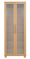 Washington 2 Door Glass Wardrobe - Beech Effect alternative view