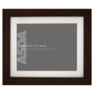 ASDA Dark Wood Photo Frame - 12x10 Inch