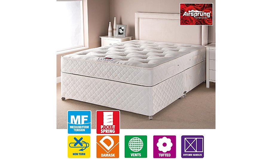 Airsprung Pocket Sprung Divan Double Various Storage Beds George At Asda