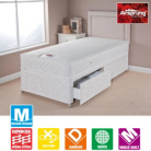 Airsprung Memory Divan Single - Various Storage
