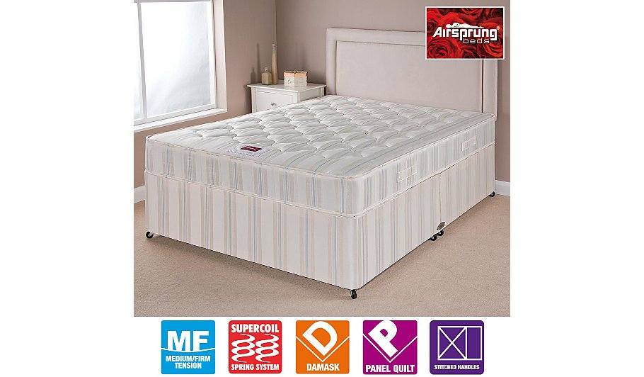 Airsprung ortho divan double various storage beds for Double divan bed with storage sale