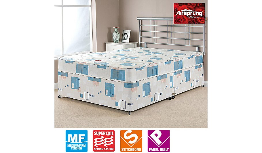 Airsprung quilted divan king no storage beds george for King divan with storage