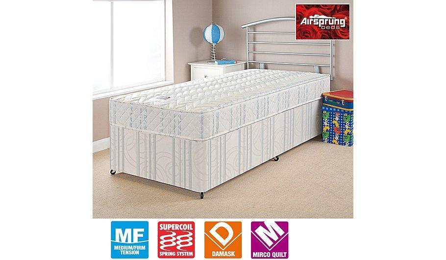 Airsprung Kids Anti Dust Mite Comfort Divan Shorty Various Storage Beds George At Asda