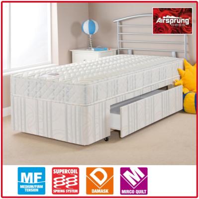 Asda direct airsprung kids anti dust mite comfort divan for Shorty divan bed