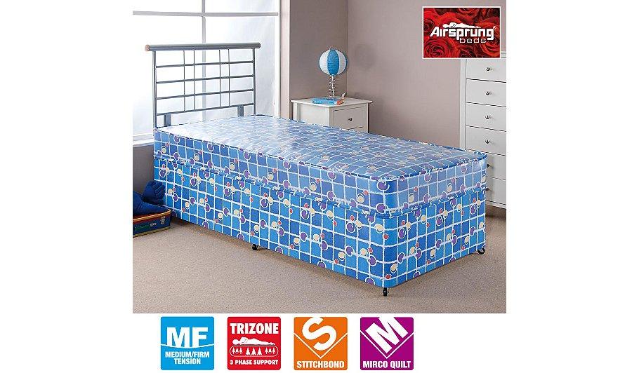Airsprung Kids Waterproof Divan Single Various Storage Beds George At Asda