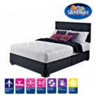 Silentnight Modern Divan - Black Faux Leather