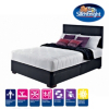 Silentnight Modern Divan - Black Faux Leather main view
