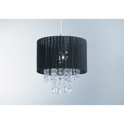 ASDA Voile Pendant Light Shade - Black