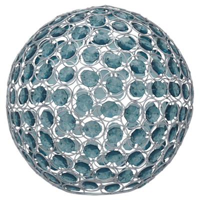 ASDA Beaded Sphere Light Pendant - Teal