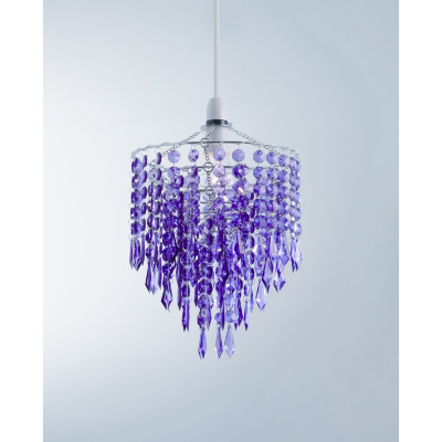 ASDA Easy Fit Crystal Droplet Light Pendant - Purple