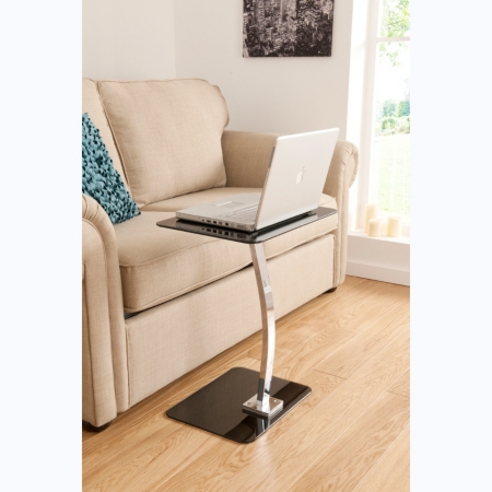 ASDA Glass Laptop Table - Black