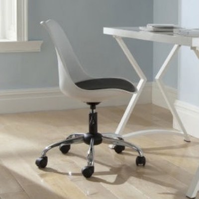 ASDA Moulded Office Chair with Padded Seat - White product image