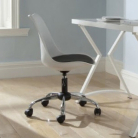 Moulded Office Chair with Padded Seat - White and Black