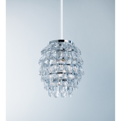 ASDA Easy Fit Pineapple Light Pendant - Clear